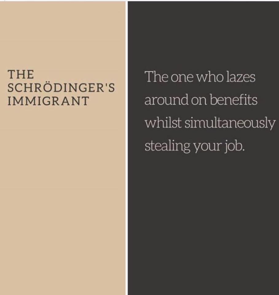 Schroedinger's Immigrant (via Dom Joly on Facebook) https://t.co/8DEj2Y7RDq