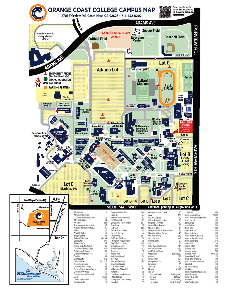 Orange Coast College Map Orange Coast College on Twitter: