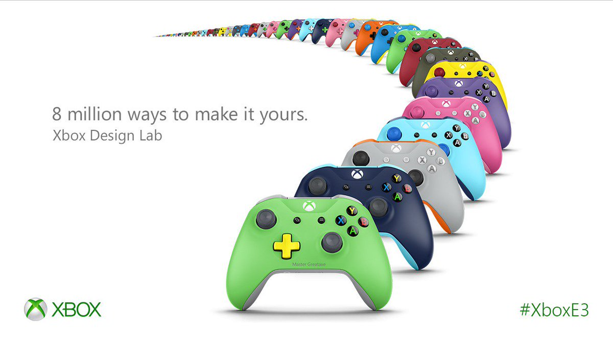 Personalize your very own #Xbox Wireless Controller with Xbox Design Lab. #XboxE3