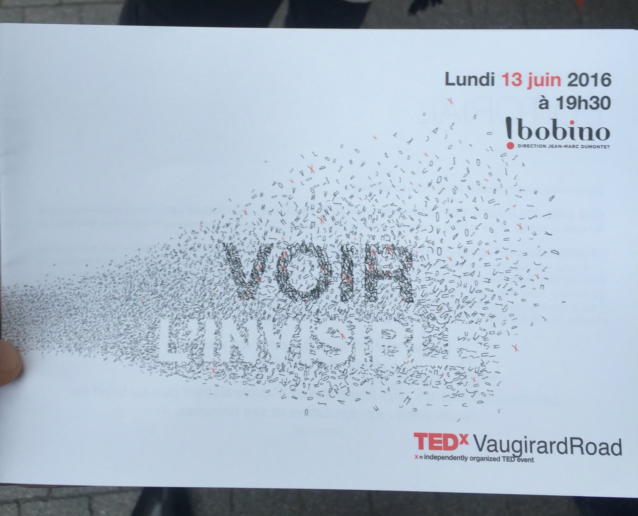 Live from @TEDxVaugirard @EliaConsulting ! https://t.co/B2h2Ddj90h