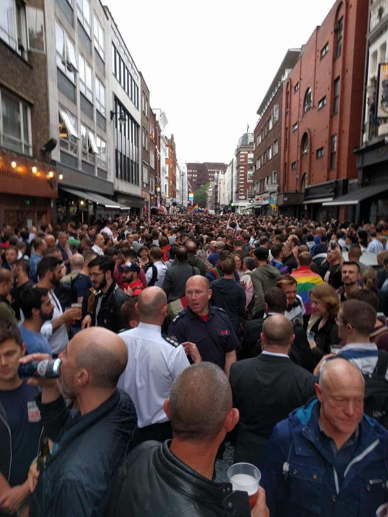 Oh my goodness. #Orlando vigil in Old Compton Street https://t.co/NkpC2G419z