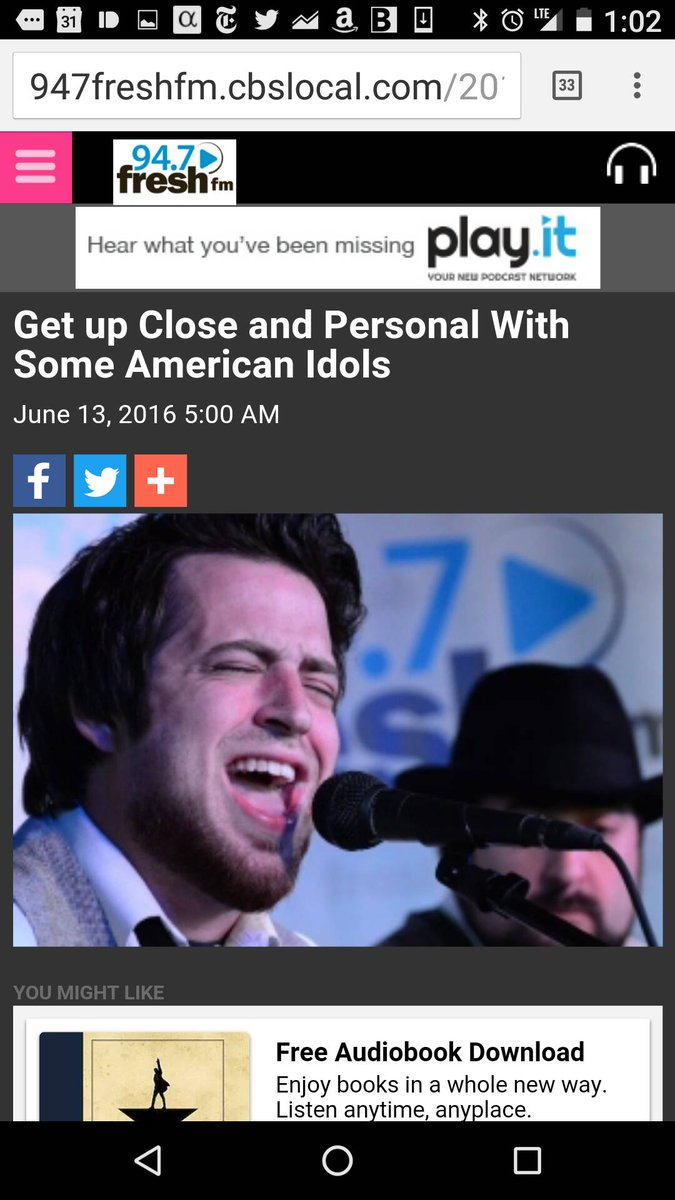 *Get up Close and Personal With Some American Idols « 94.7 Fresh FM https://t.co/XFPsW69shI @AmericanIdol