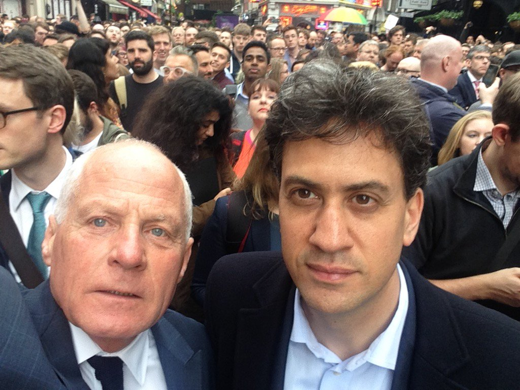 With my wonderful friend @Ed_Miliband and @Lord_Collins at the vigil in soho. We stand together. #OnlyTogether https://t.co/QnMMxdSrnk