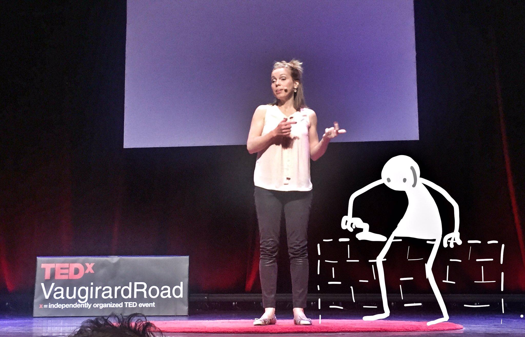 Elyx prépare un mur invisible pour @anlopiquet ! #TEDxVR #TEDxVR2016 #mime https://t.co/KAc2j3xZGz
