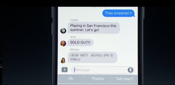 "An ""invisible ink"" feature in messages keeps a message a secret until you swipe your finger over it #WWDC2016 #WWDC https://t.co/csUDgUSV0A"