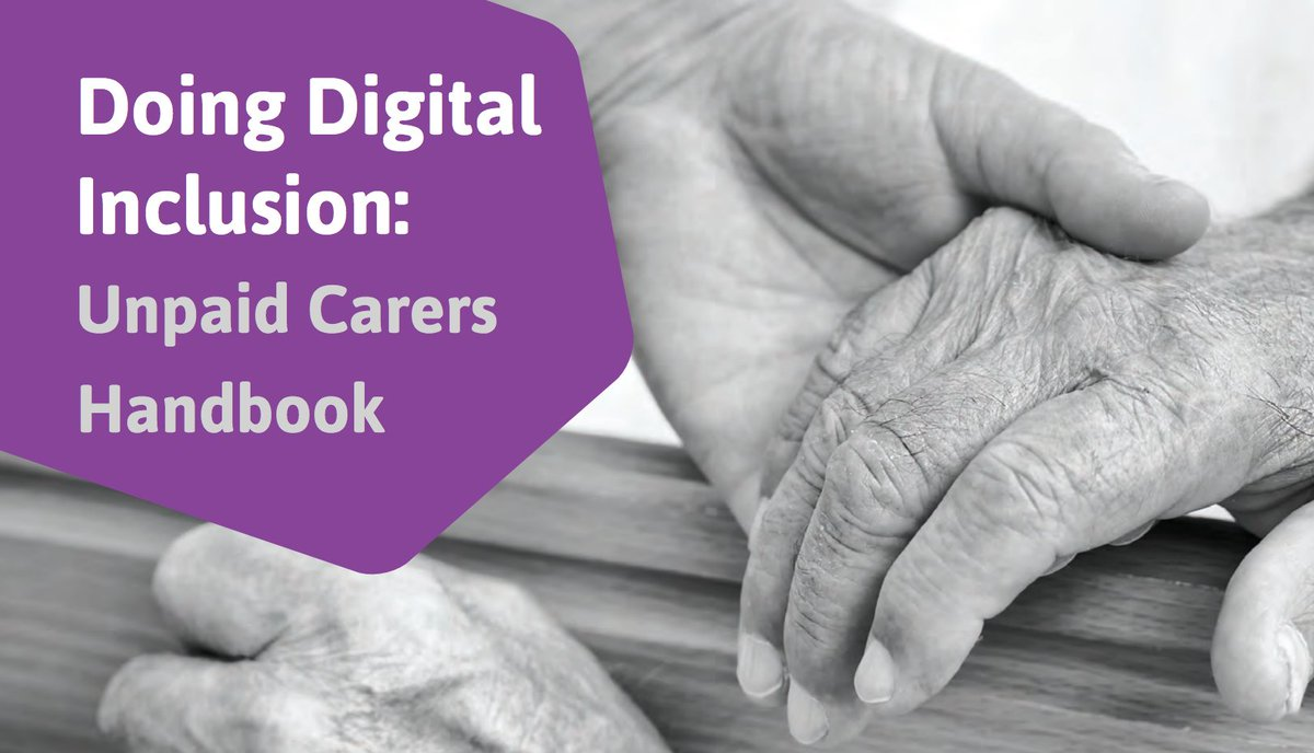 Our #carersweek handbook provides tips for helping unpaid #carers to gain #digitalskills https://t.co/xgNA68K3NH https://t.co/v8fW3aBgHg