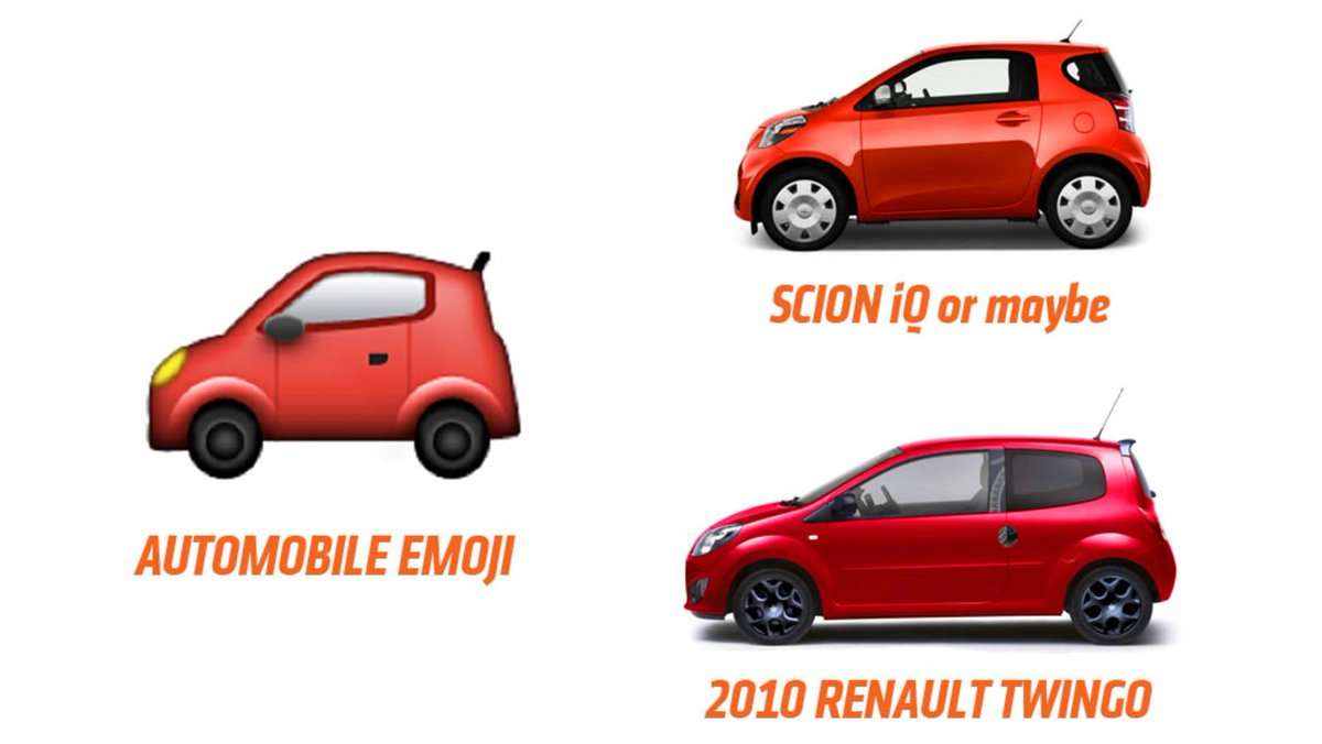 Jalopnik On Twitter What Kinds Of Cars Are Emoji Cars Supposed To
