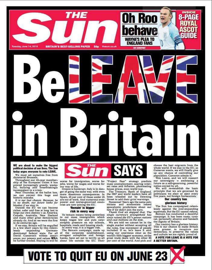Australian with US citizenship  tells Brits to leave Europe. I wonder why? Oh yeah.. #VoteRemain https://t.co/Lk8U8bmjUY