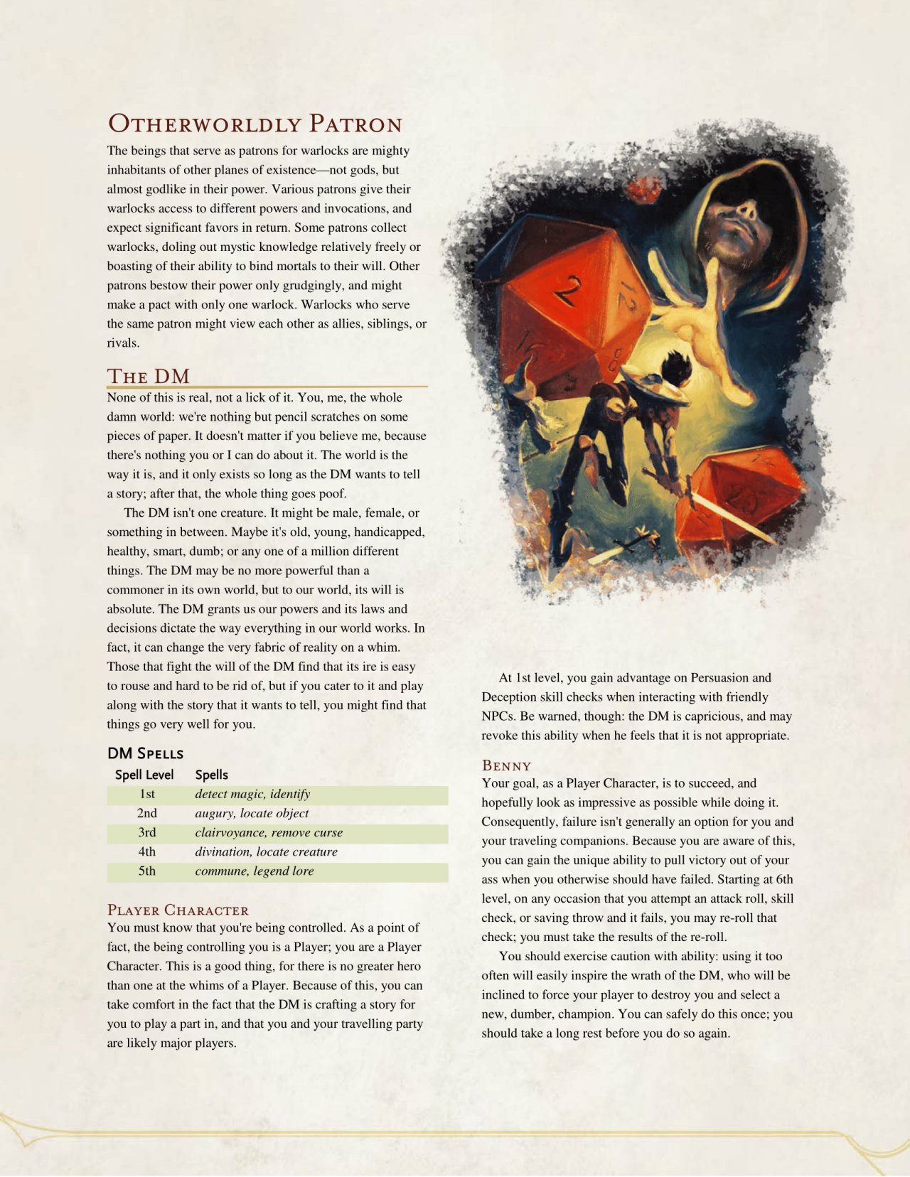 Nerd Immersion On Twitter This Is Too Funny D D 5e Warlock Patron The Dm Dnd Dnd5e 4thwallbreaking Warlockpatron 5e doesn't have spells that grant temporary spell abilities. funny d d 5e warlock patron