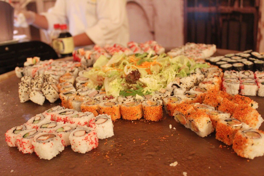 Followmycravings On Twitter The Sushi Station During Sohour At Thesouq Tent Stregisdoha (1 tuna, 1 salmon, 1 yellowtail, 1 crab stick, 1 surf clam, 1 white tuna, 1 mackerel) $16.95. the sushi station during sohour at