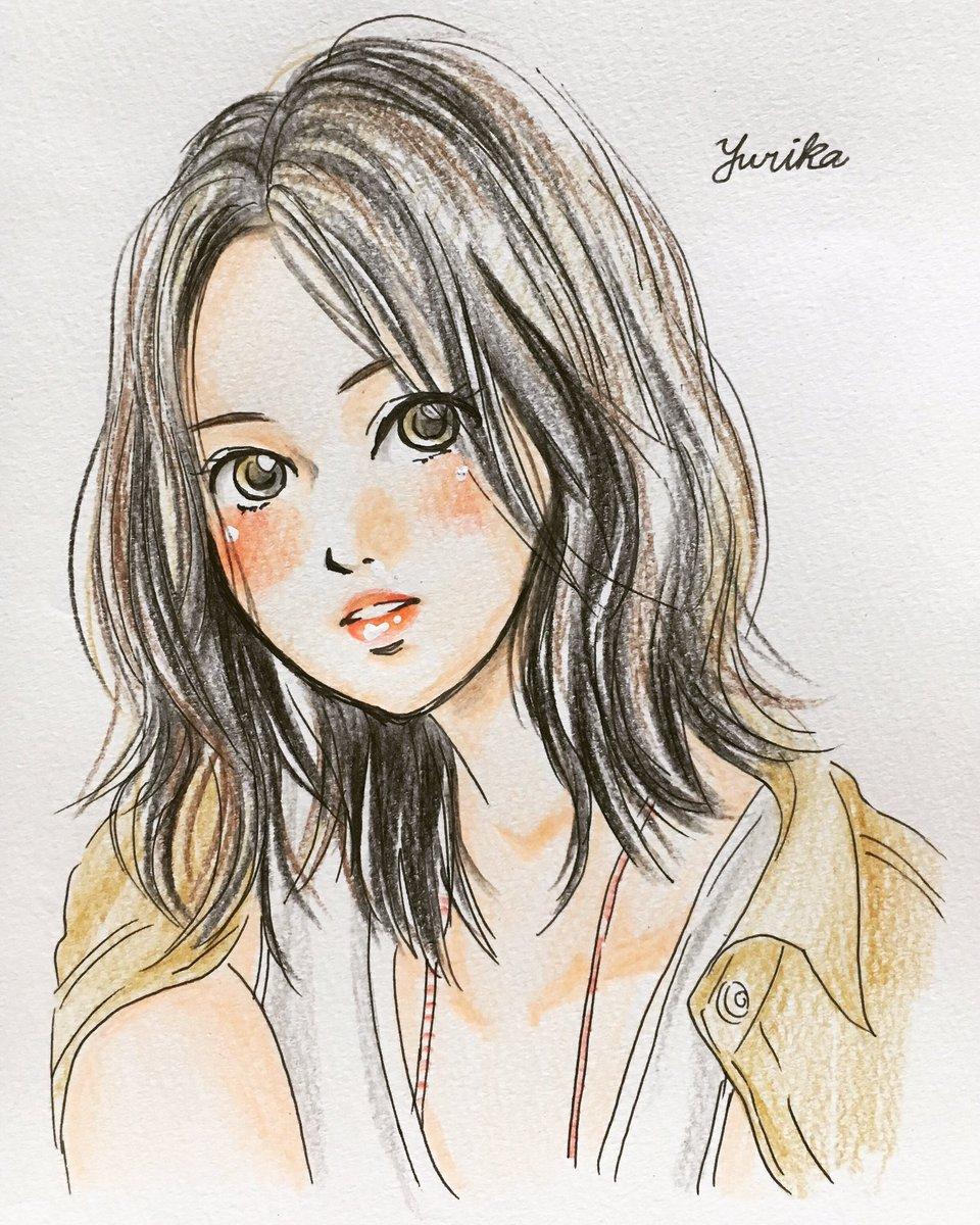 Uzivatel ユリカ Na Twitteru 女の子ヘアスタイルイラスト ヘアスタイル 女の子 色鉛筆