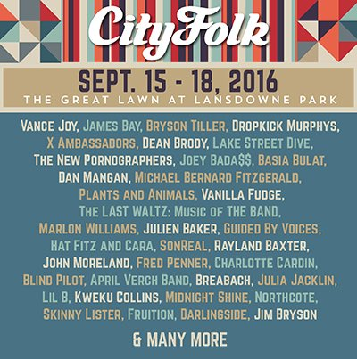 CityFolk is back, Sep 15-18. Lineup out now and pre-sale starts Thurs at 10 am at https://t.co/Ht99bDte8Q https://t.co/AQjJWLjz0B