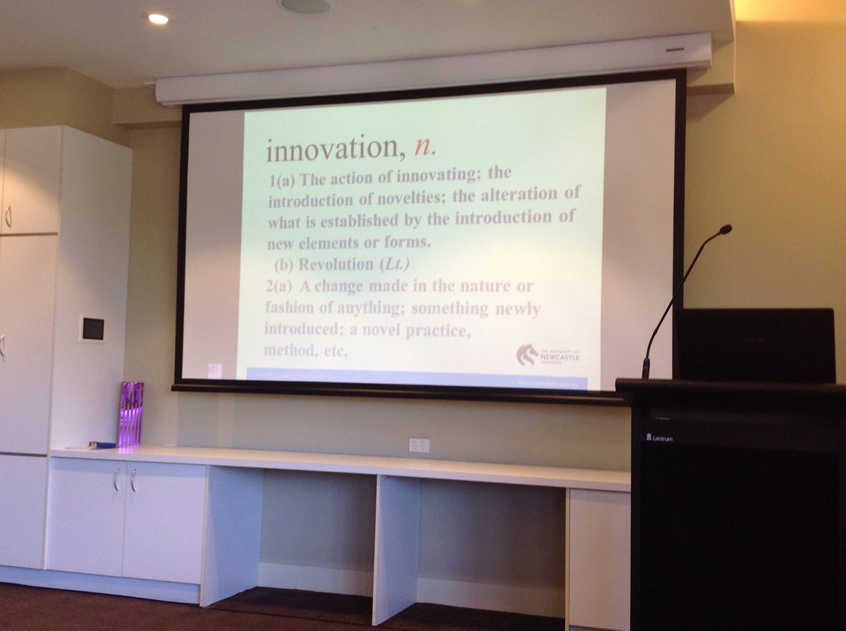 "#spcconf16 The innovation age is characterised by novelty, seeing what is not there and ""rubber ducky"" movements https://t.co/EonPolpRR2"