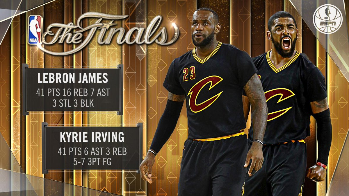 the latest 29e2b eae10 lebron james amp kyrie irving are the 1st ever pair of teammates each with  40 pts