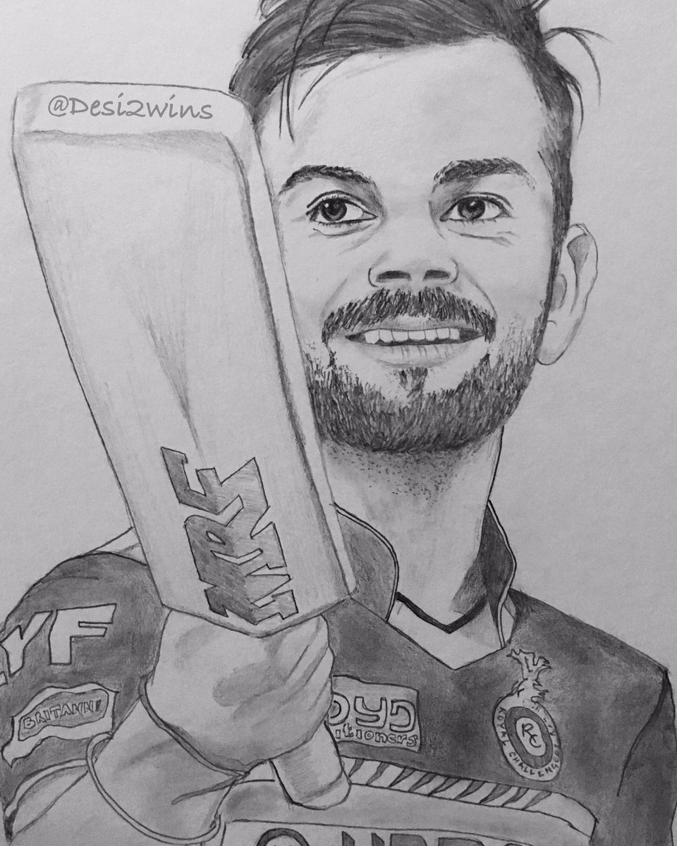 Desi2wins On Twitter Rt This Sketch Of Imvkohli
