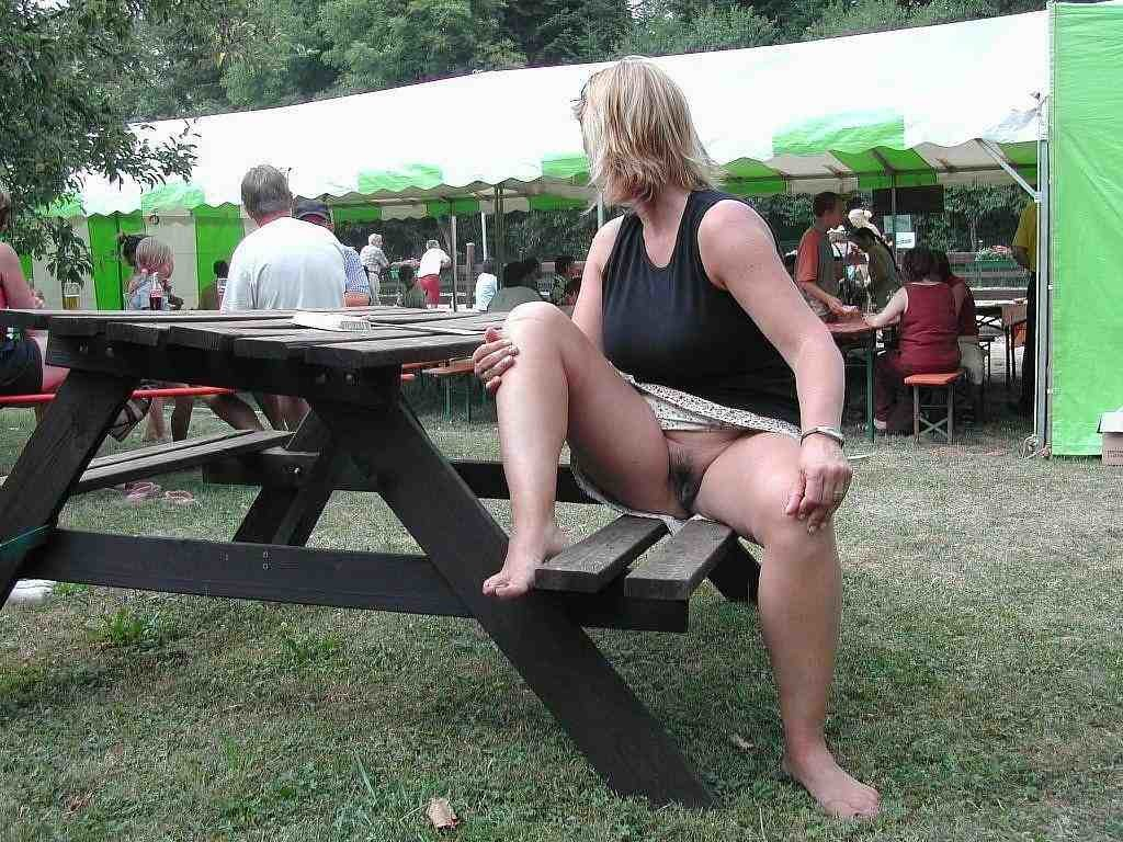 Mature women upskirt public