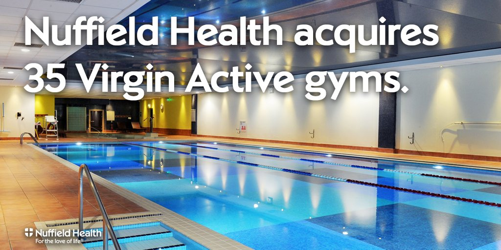Nuffield Health acquires 35 gym sites from Virgin Active. FAQs and more info here. https://t.co/bWcEM6wJA1 https://t.co/SHisUIaEwa