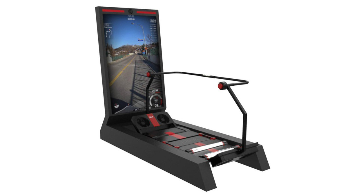 The Bitelli bike trainer makes indoor training like playing an arcade game