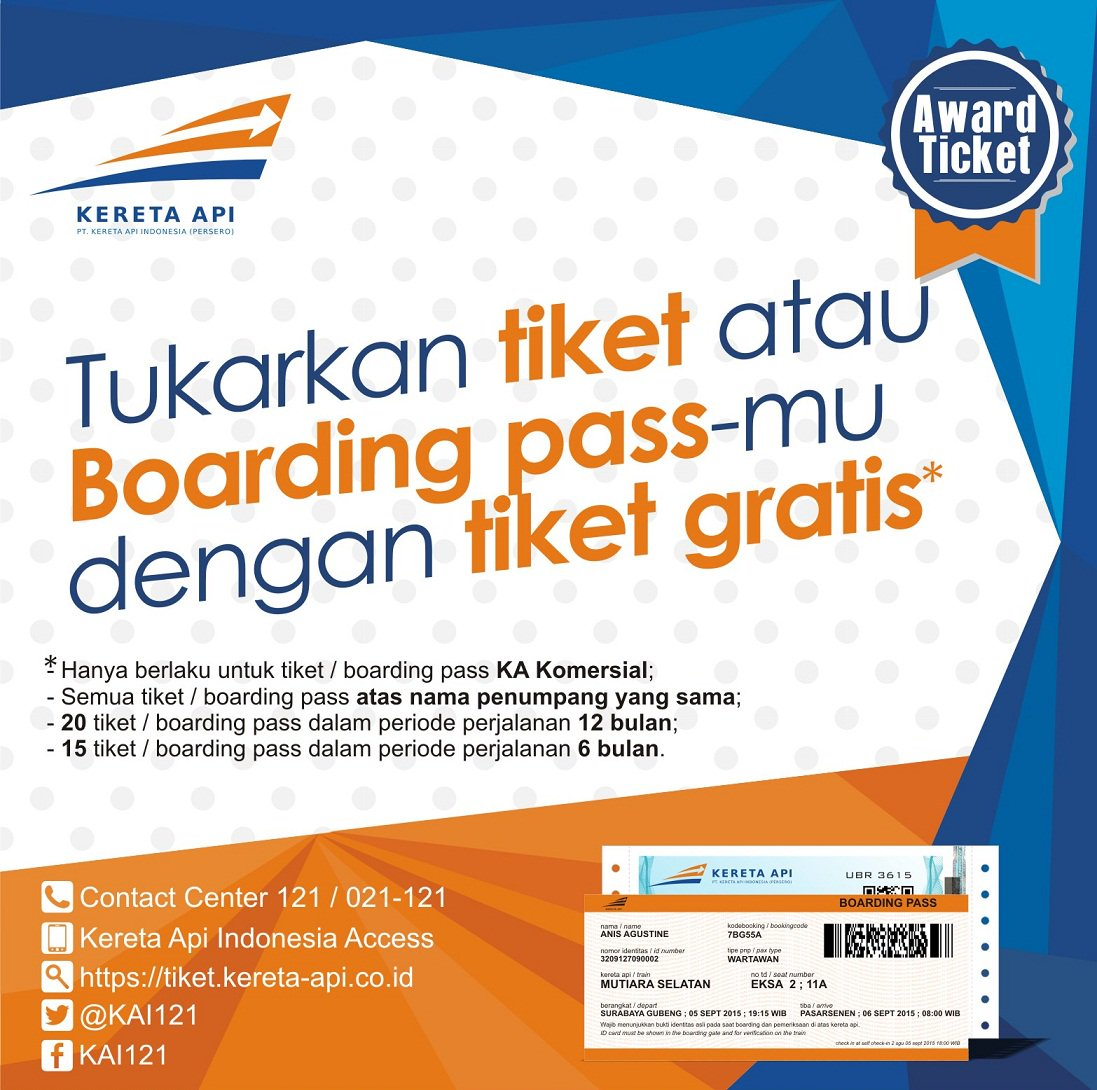 Kereta Api Indonesia On Twitter Sahabatkai Tukarkan Tiket Atau