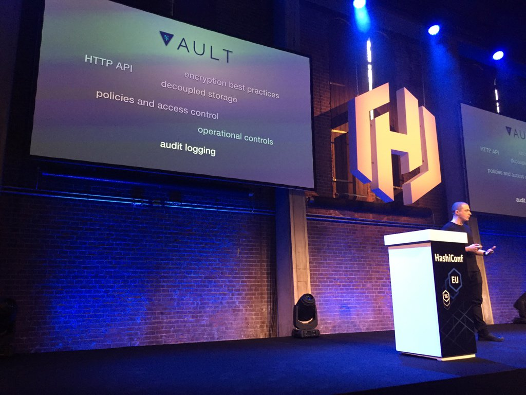 """#hashiconfeu """"KeyOps: Securing @Fastly's Infrastructure with Vault"""" by @roguesys."""