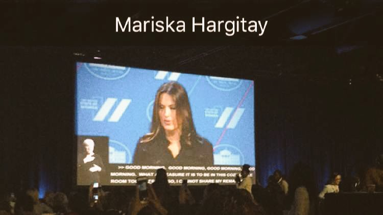 """Society continues to displace shame & blame on survivors... #NOMORE."" -@Mariska #StateOfWomen https://t.co/4Uu7CWVbgz"