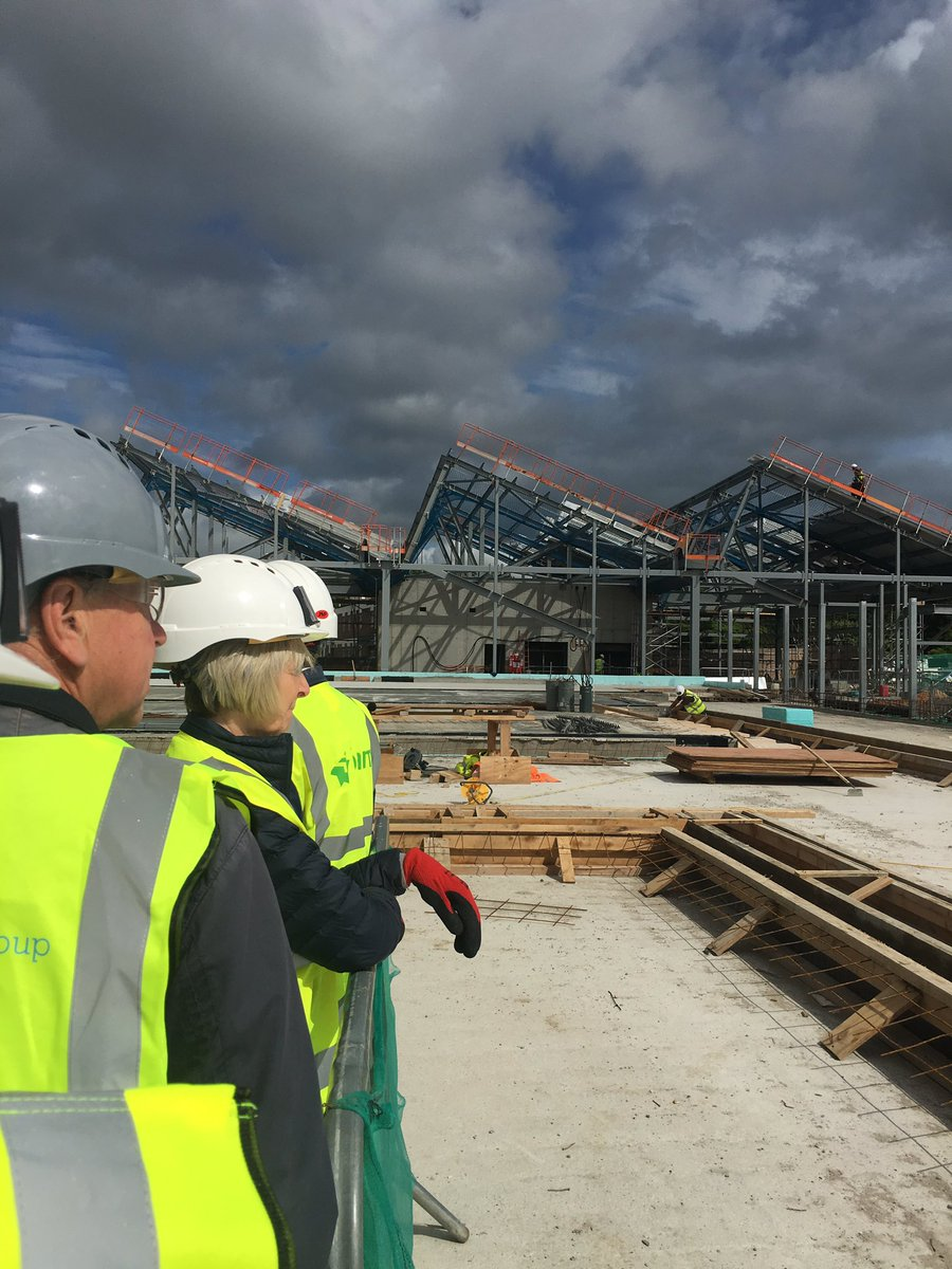 Iconic roofing for @BAMConstructUK Waitrose Dev starting to make its appearance #opendoors16 https://t.co/ilyqKb9GHf