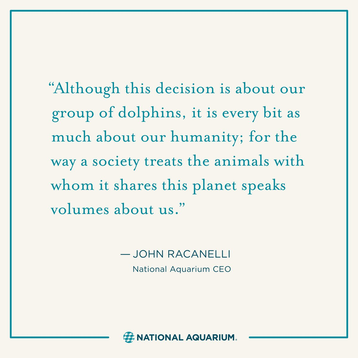 Today, we're announcing our plans to create a new way for dolphins to thrive in human care. https://t.co/15b1Qk5xYF https://t.co/6h1IcAfpEk