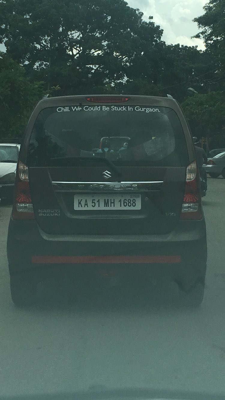 Car sticker design in bangalore - Ankit Oberoi On Twitter Saw This Hilarious Car Sticker In Bangalore Today Wearebangalore Your Move Gurgaon Or Gurugram Https T Co 5kcqmuvy0n