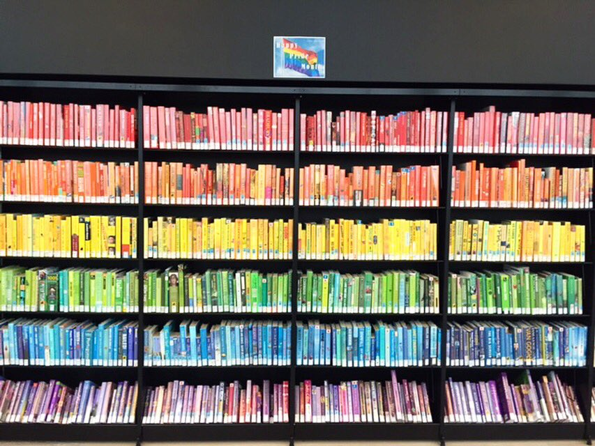 Pride colours are beaming at Halifax Public Libraries. #safespace #ally #lovewins #orlandounited https://t.co/062p9ruLSC