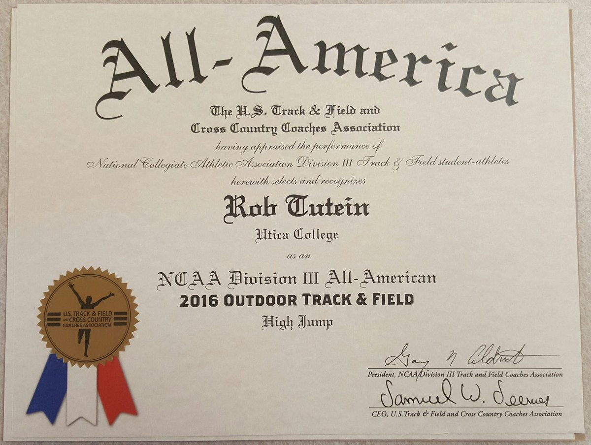 utica college xc tf on twitter all american certificates are in