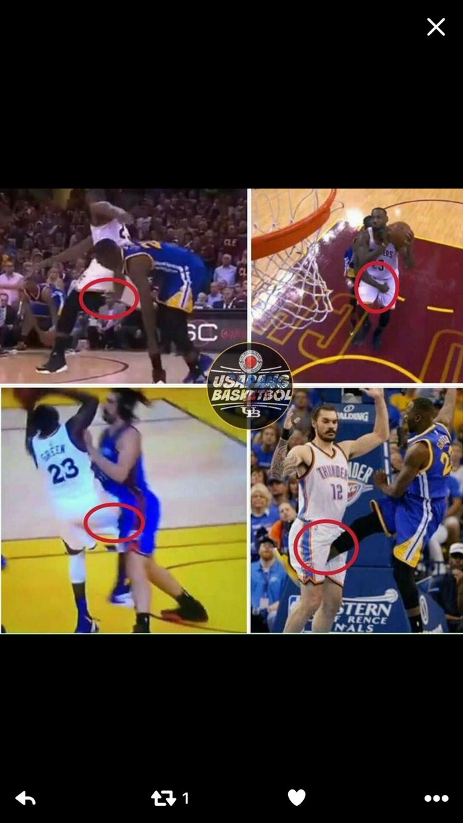 This picture says it all abt why Draymond Green was suspended. Can't believe people defend this. @FirstTake https://t.co/pIxnT1x9Vi