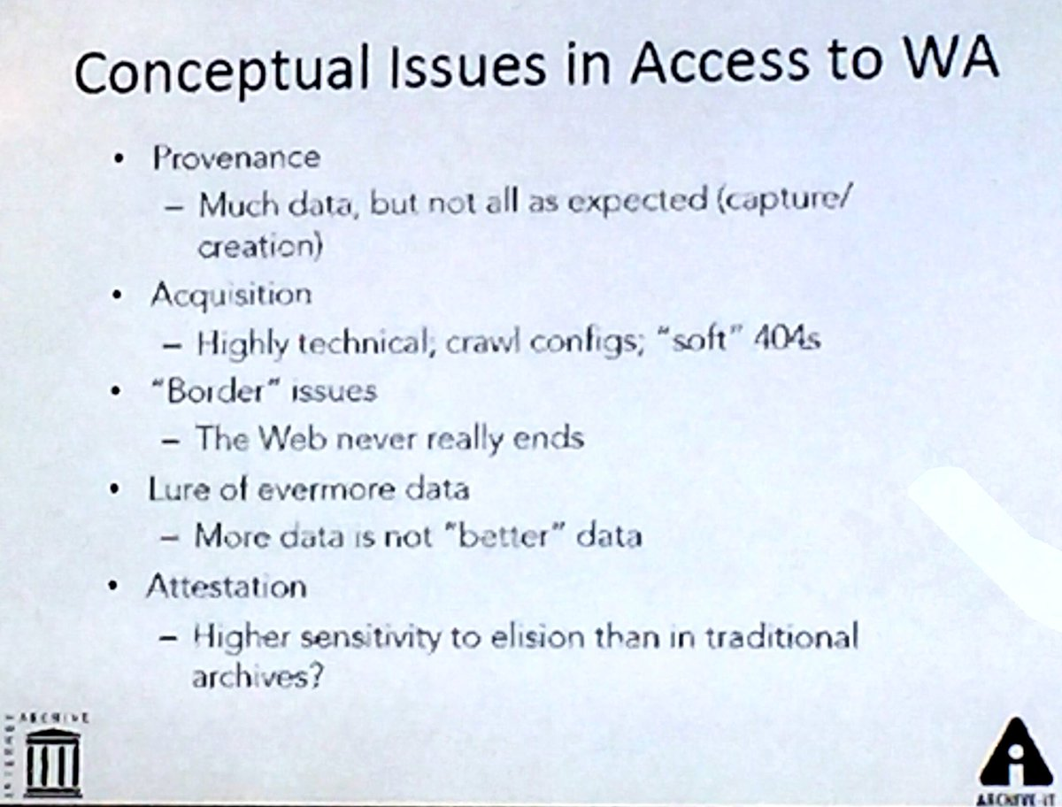 "Very good rundown of ""Conceptual Issues in Access to WA"" by @jefferson_bail. #hackarchives https://t.co/ACd7hobL99"
