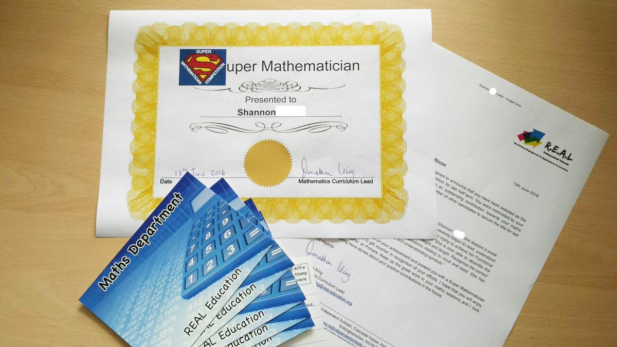 Congratulations to Shannon and all the other Super Mathematician nominees!