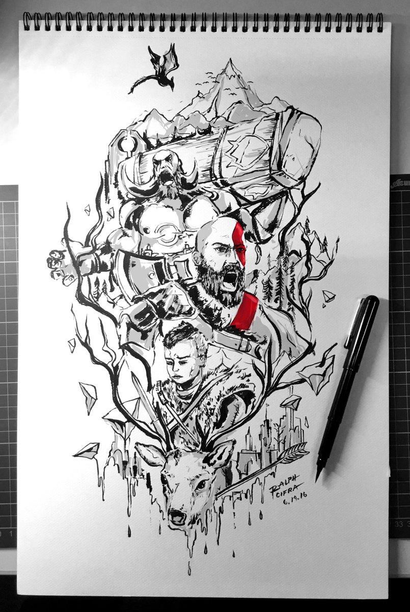 GOD OF WAR Fan Art #Godofwar #Kratos #FanArt #illustration #game @Sony @PlayStation @PlayStationEU @SonySantaMonica https://t.co/5q2BmYARcR