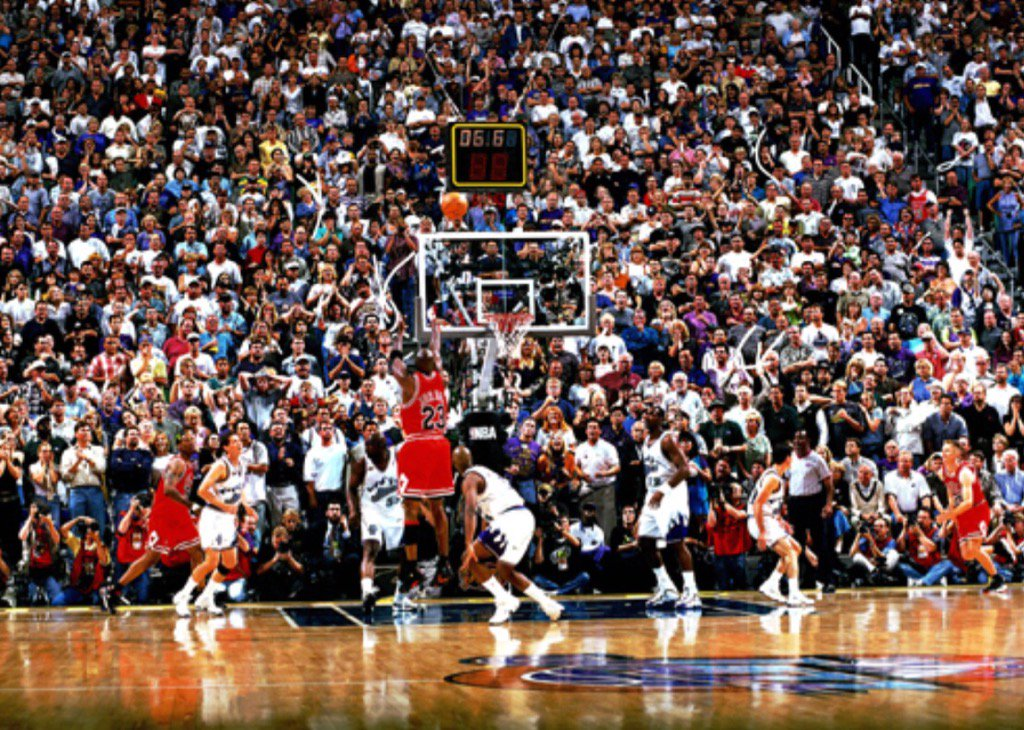 """Darren Rovell on Twitter: """"Game 6 of the 1998 Finals on ..."""