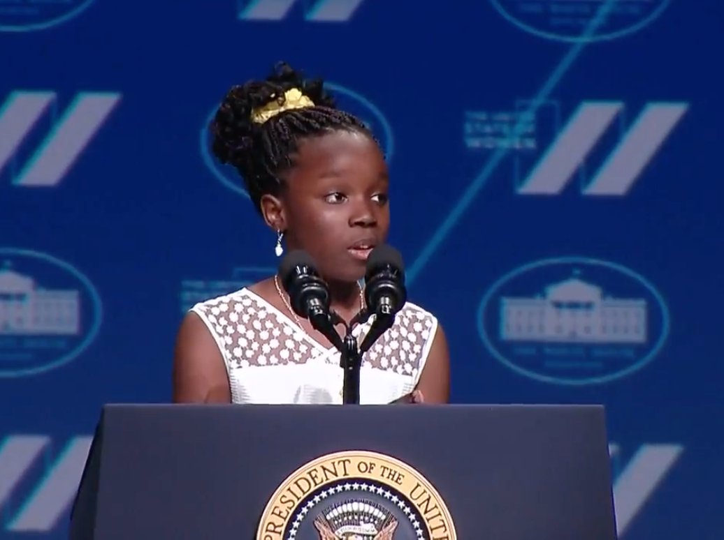 Meet Mikaila Ulmer, the 11-year-old entrepreneur who introduced @POTUS at #StateofWomen  https://t.co/TwyRMtDdV0 https://t.co/xbpfNFCoSx