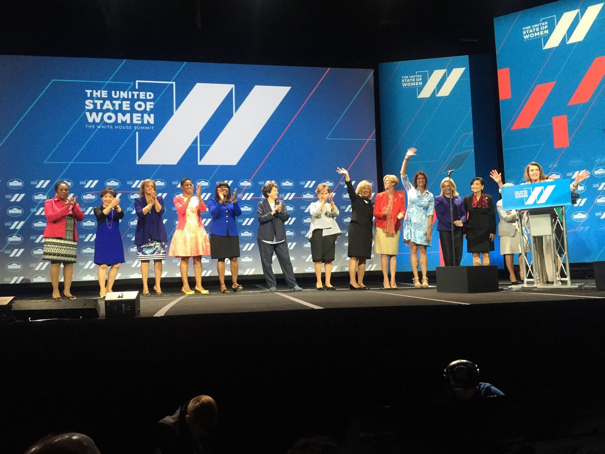 We celebrated strides we've made & highlighted the stmt of fact: when #WomenSucceed, America succeeds! #StateOfWomen https://t.co/jog10HtYqW