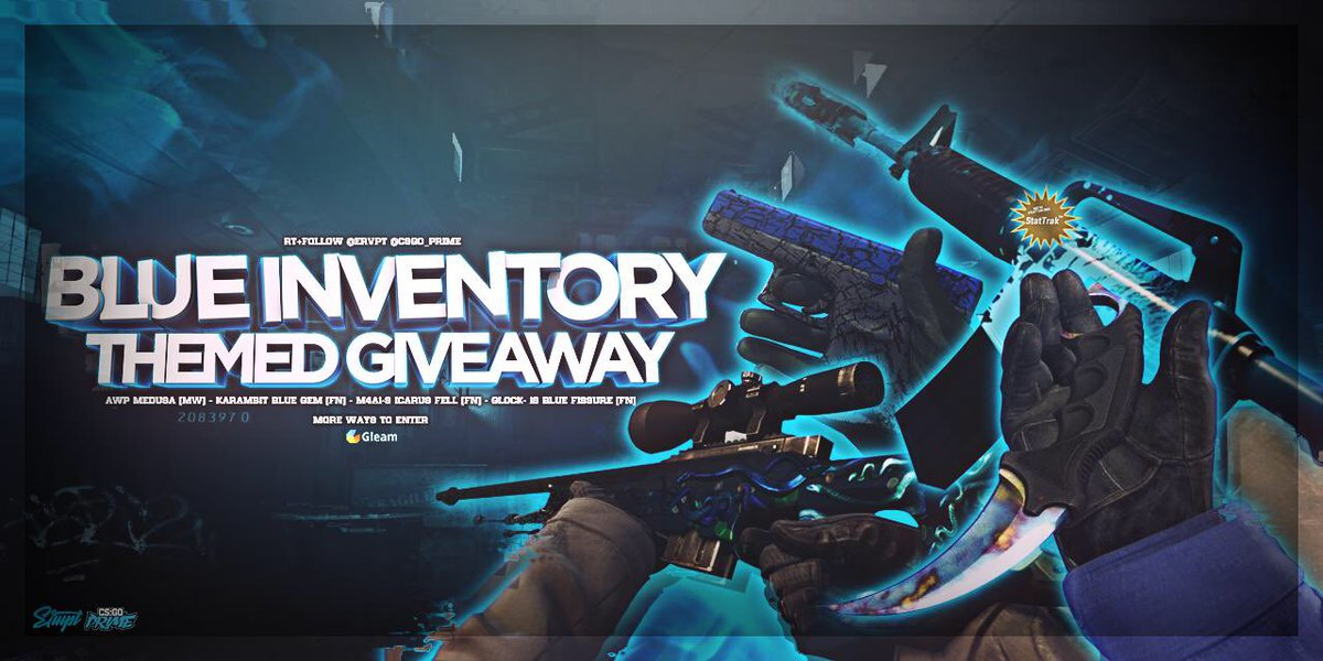 Blue Themed Inventory Giveaway! Retweet + Follow @ervpt @CSGO_Prime - Only a few days left the enter!