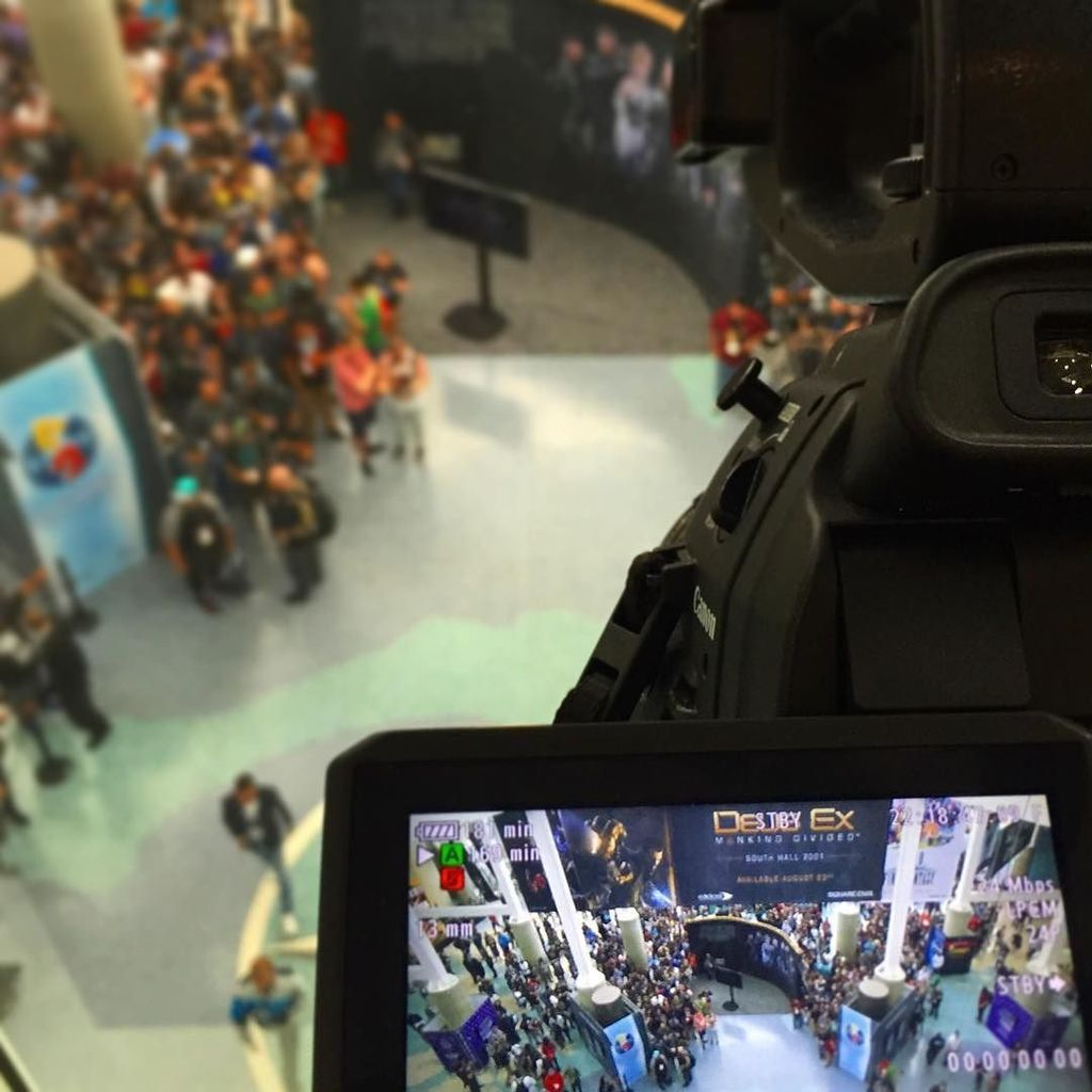 #e3 starts today and #d2 is in #la - shooting, posting & publishing sizzle reels for the #gaming community.