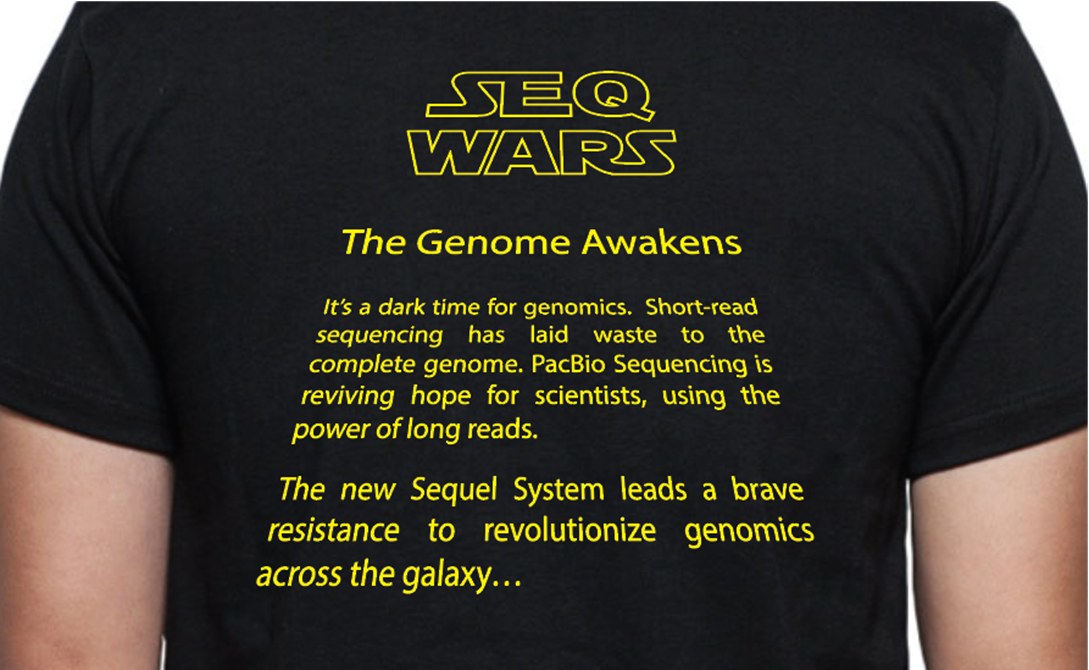 Share your poster or paper w/PacBio data at #ASMMicrobe2016 & earn your limited edition Seq Wars shirt -  Booth #304 https://t.co/z03wk55x2P