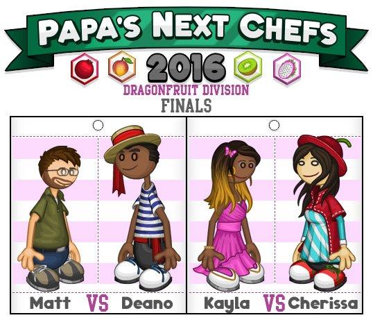 Flipline Studios On Twitter Dragonfruit Division Finals Matt Vs Deano And Kayla Vs Cherissa Vote Now Https T Co Xto3g9kugx