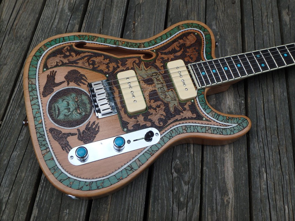 Warmoth Guitar Parts On Twitter Check Out This Killer Wood Burning