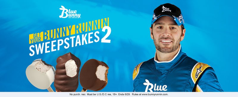 Get ur Bunny Runnin for a chance to #win $10k from Blue Bunny & @JimmieJohnson. Rules/entry: https://t.co/aJDzvAcm8V https://t.co/eWdHlEjwF1
