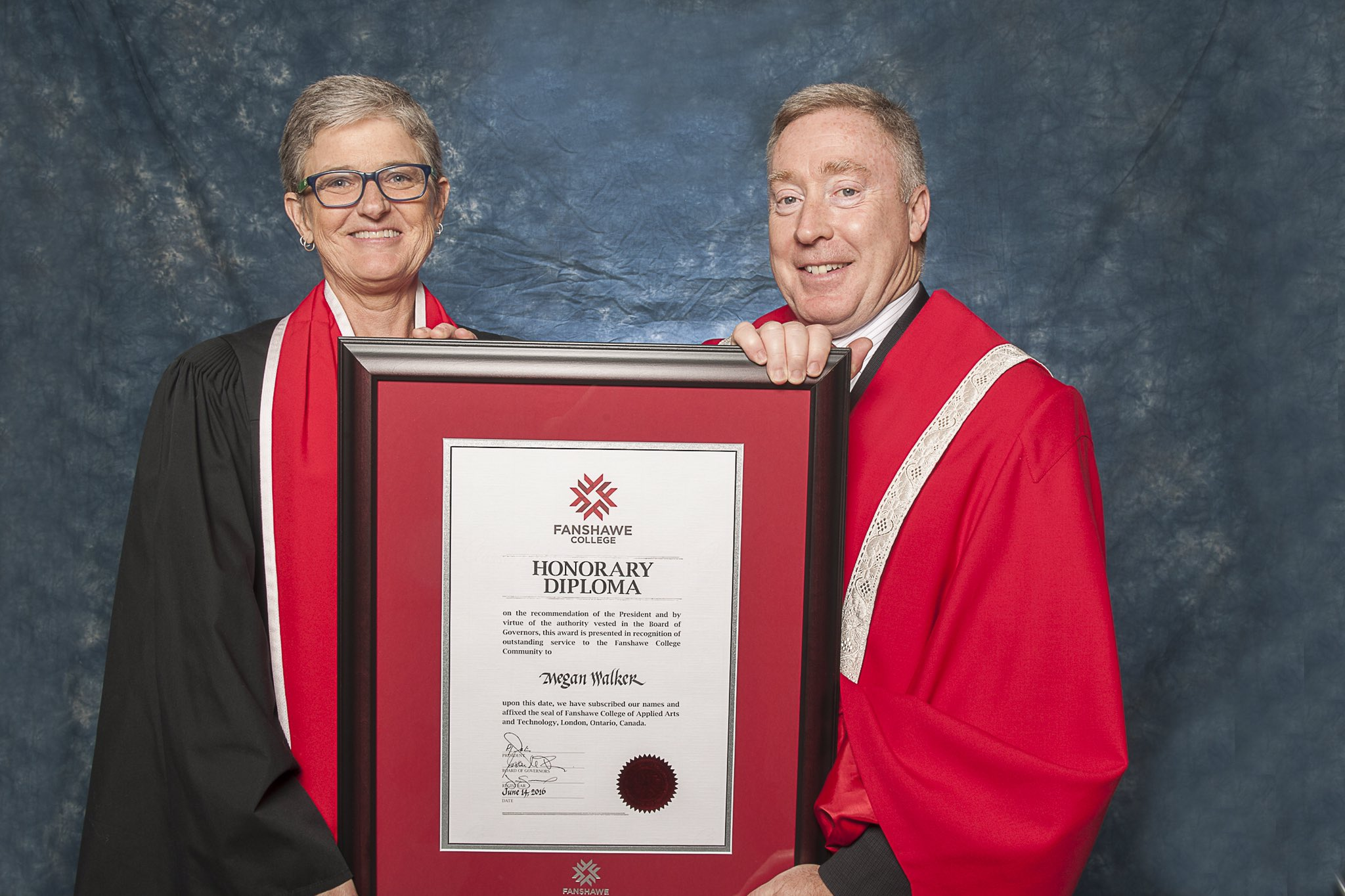 Fanshawecollege On Twitter Congratulations Meggiewalk Fanshawe College Honorary Diploma Recipient 2016 Fanshaweforever Graduation