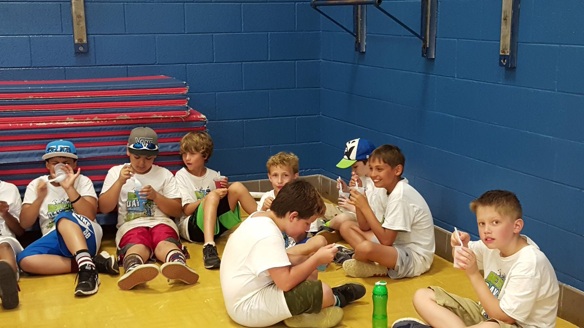Cooling down with some icees. Then we did a read-in afterwards. #oceanlakeses #WeAreVBSchools