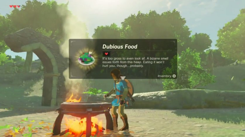 Zelda rethinks the health system in breath of the wild for Cuisine zelda