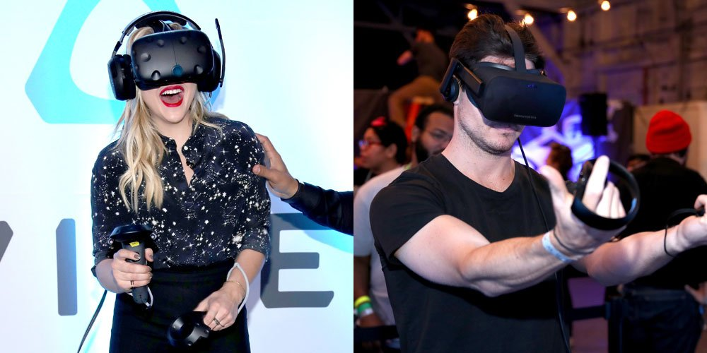 Chloe Moretz & Robbie Amell Test Out Alienware Virtual Reality!