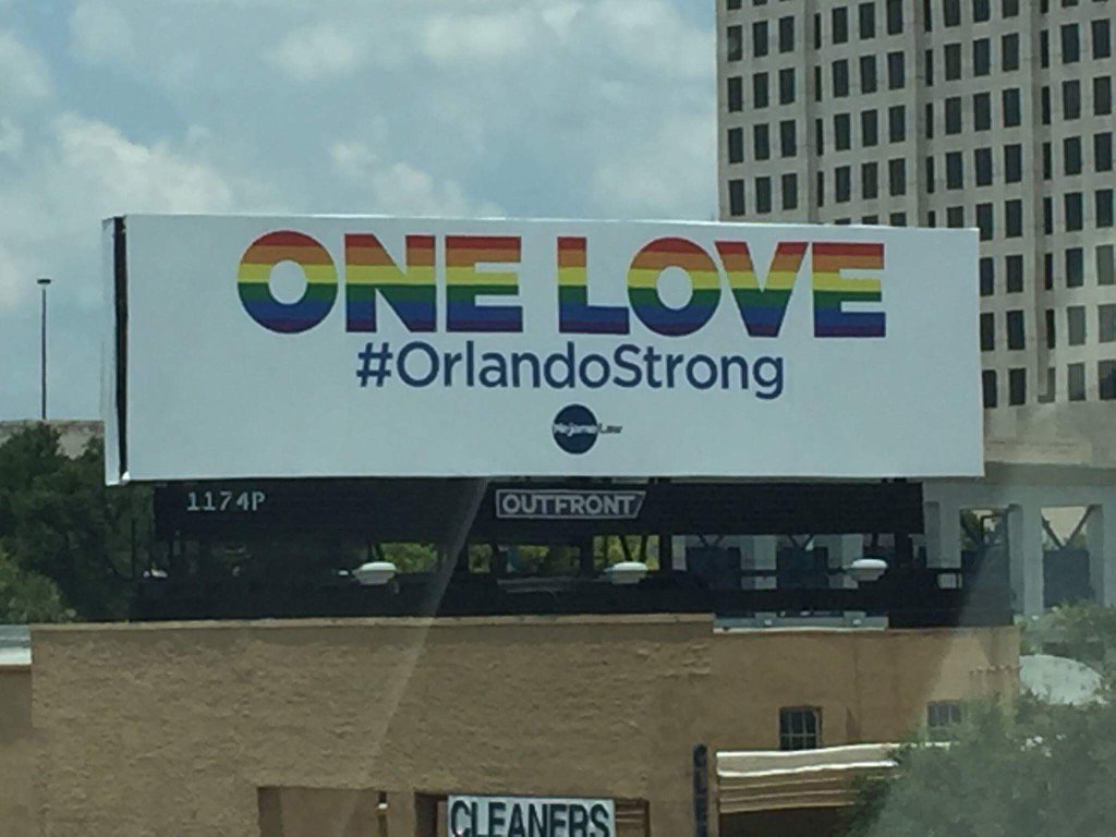 We may be bent but not broken. 49 lives & 53 injured will not be in vain. Stronger than ever!#OrlandoStrong #OneLove https://t.co/6UxgCqzQju