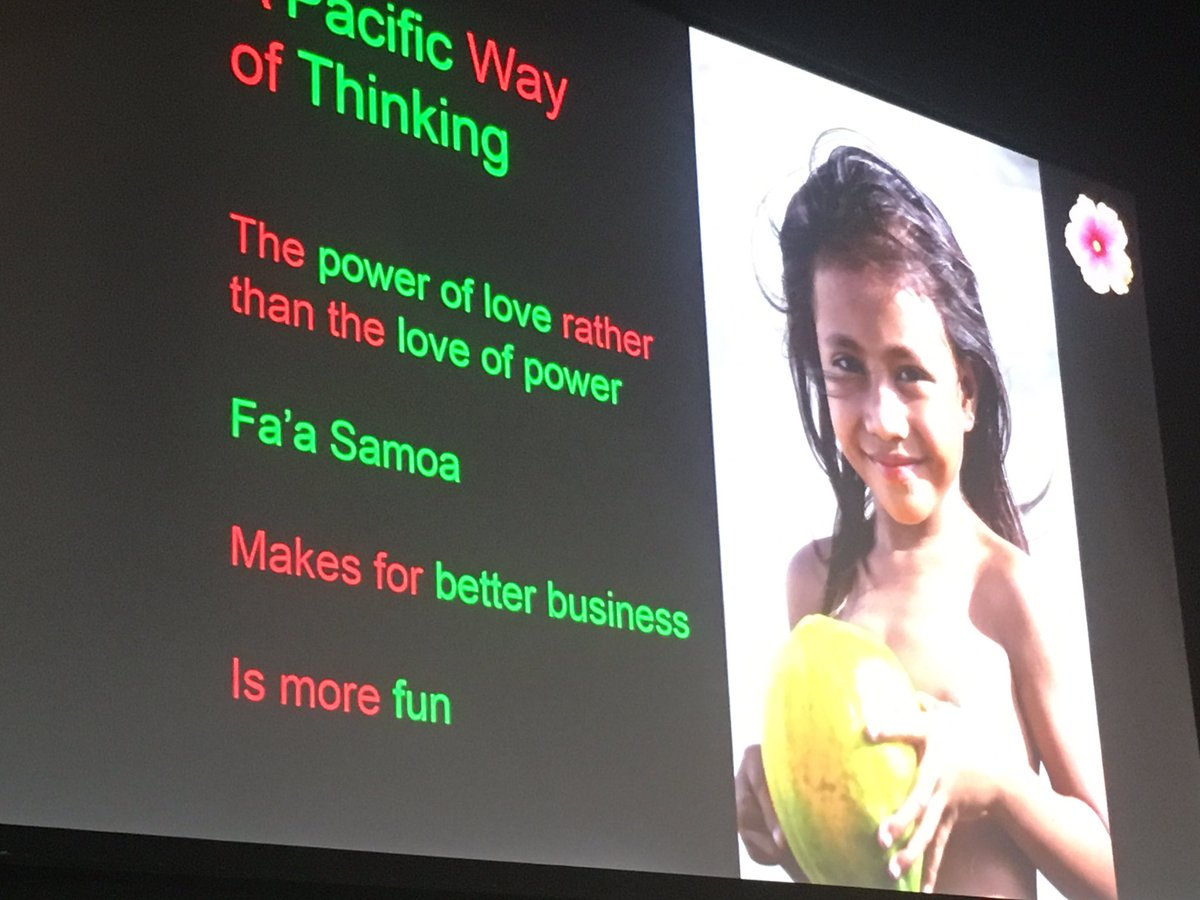 The power of love rather than the love of power. What a great philosophy from Samoa by @RobertOliverNZ #keainspire https://t.co/CqJF1KbiXc