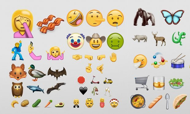 Take a look at the 72 #newemojis including a champagne toast, face palm and BACON!